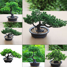 Simulated Pine Tree Bonsai Plastic Basin Artificial Welcoming Plant Home Decor