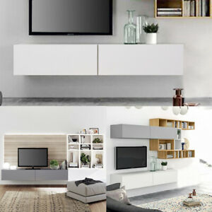 140cm Modern Wall Mounted TV Cabinet Furniture Entertainment Body Floating Unit
