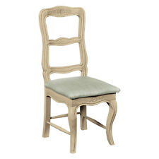 Shabby Chic French Cream Ivory Grey Wood Furniture Dining Upholstered Seat Chair