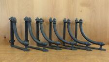 "6 Large Brown Arch 7.25"" Shelf Brackets Hangers Antique-Style Rustic Cast Iron"