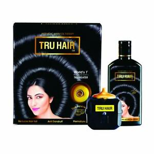 TRU HAIR Herbal Hair Oil 110ml with Tru Heater to Warm the Hair Oil