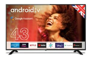 """Cello 43"""" Inch Full HD LED Smart Android TV with WIFI and Freeview"""
