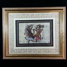 Original Greek Mythology Pompeii God Dionysus Art Deco Framed Parchment Painting