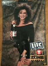 New listing Miller Lite Party Zone poster