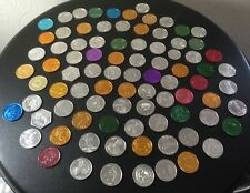 Vintage Lot of Eighty-Six (86) Mardi Gras Tokens Doubloons Coins