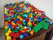 HUGE Lot Of Lego Duplo Bricks Pieces Assorted People Base Plates Cars 7.10 Lbs.