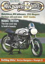 Manx Triton T110 Norton Navigator 350cc Triumph Twenty-One Harley Hydra Glide