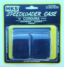 HKS Speedloader Case Cordura Nylon Black Holds 2 HKS Free Shipping 100-B