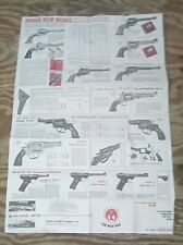 Vintage 1979 Sturm Ruger Firearms Double-sided Poster