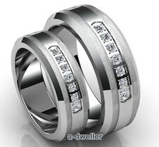 His & Her Tungsten Diamond Couple Wedding Band Anniversary Ring Set 0.75 Ct Men