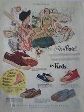 1953 Keds Shoes Lifes A Pienie Champion Blucher Cager Mesh Original Ad