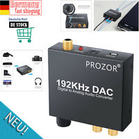192KHz DAC Konverter Wandler Digital Optisch Toslink zu Analog Stereo Audio USB