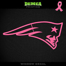 Patriots NFL -  Breast Cancer Awareness Pink Vinyl Sticker Decal 5""