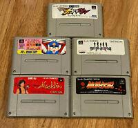 Super Famicom variety lot Aladdin+Garou Densetsu+Momotarou DX+Gakkou+Mini-Yonku