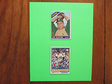 CATFISH HUNTER(Died in 1999)Athletics/Yankees-Signed 1978 Card w/8x10 Display