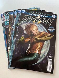 Aquaman #25-34 set DC Rebirth 2016 Series w/#27, 28, 33 variant covers Middleton