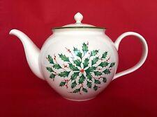 Lenox China Dimension Collection Holly Holiday Tea Pot NWT