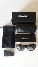 Chanel CH5246 Camellia Flower, Womens Sunglasses in Burgundy, New with Box
