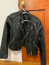 Womens Medium Black, Estradivarius, Leather Jacket