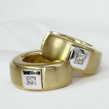 Klassische Ohrringe, Creole, Gold 585 mit Princess-Diamant 0,16 Carat  € 1950.--