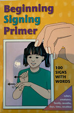 "NEW! Garlic Press ""BEGINNING SIGNING PRIMER"" Flash cards 100 Signs & Words Deaf"