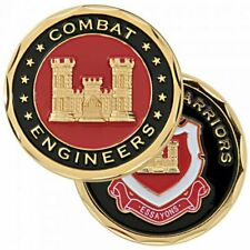 """ARMY COMBAT ENGINEERS WARRIORS ESSAYONS 1.75""""  CHALLENGE COIN"""