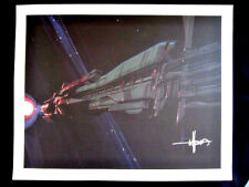 Signed Syd Mead Lithograph Print Blade Runner Tron Aliens Ridley Scott COA