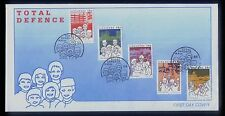 Singapore Stamps First Day Cover FDC -1984 Total Defence
