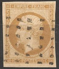NAPOLÉON N°13A bistre, obl Gros points carrés, TB