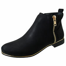 Unbranded Zip Block Patternless Boots for Women