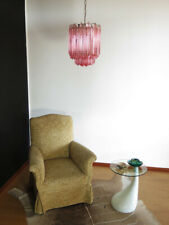 Quadriedri Murano chandelier – 47 pink prisms