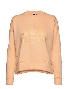 Adidas glam logo women's sweatshirt top - Orange - XS/ X-SMALL