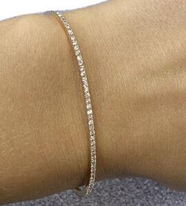 Messika Skinny 18k White Gold Diamond Bracelet 0.90cttw