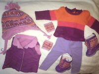 Retired!! American Girl Doll Warm Winter outfit & Warm Winter Accessories