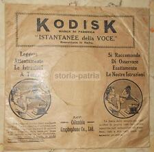 MUSICA_GRAMMOFONI_AUTO-REGISTRAZIONE DISCHI_KODISK_COLUMBIA GRAPHOPHONE_BUSTA