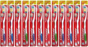 12 Pack Colgate Toothbrush Premium Quality Firm Hard Full Head Power Extra Clean