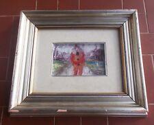Imagen Técnica mixtas ALDO DORELLA Carácter y el paisaje 18x12 cm Peinture 1974