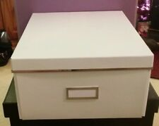 Ikea Smarassel White Lidded Storage Box