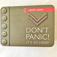 "Keepsake Storage Box Tin Green Don'T Panic Dads Army 7 3/4"" x 5 3/4"""