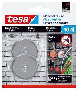 TESA Adhesive Screw for Masonry and Stone Holding Capacity 10kg NEW FREE UK POST