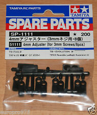 Tamiya 51111 4mm Adjuster (for 3mm Screws/8 Pcs.) (TRF416/TRF417/TRF418/TRF419)