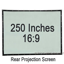 250 Inch Big Size Outdsides Movie PVC Portable Mobile Rear Projector Screen Film