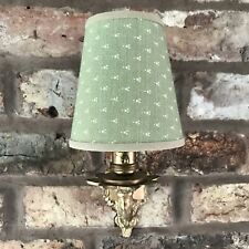 Green Nutmeg - Small Handmade Candle Clip Lampshade for Wall Lights/Chandelier