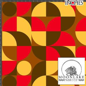 1970's Retro Vintage Abstract Pattern 100% Quality Cotton Poplin Fabric