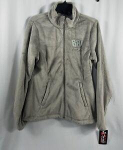 Womens Jacket Size Medium Dale Earnhardt Jr Chase Authentics Gray Fleece Zipper