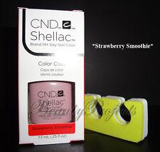 CND Shellac Strawberry Smoothie LED/UV Gel Polish .25oz New With Box +BONUS!