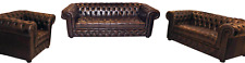 Chesterfield Ledersofa Sofa Couch Polster Sofagarnitur  3+2+1 Sofas CAMBRIDGE