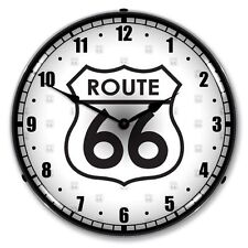 NEW ROUTE 66 HIGHWAY RETRO ADVERTISING BACKLIT LIGHTED CLOCK -  FREE SHIPPING*
