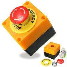 Bouton-poussoir d'arrêt d'urgence de champignon de signe rouge 10A 660V
