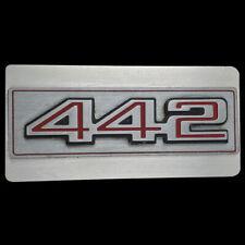 Olds Oldsmobile Cutlass 442 Grill Emblem Logo Show Car Classic NOS Belt Buckle